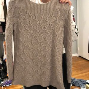 Knitted tan sweater